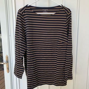 Talbots Striped Boatneck Top